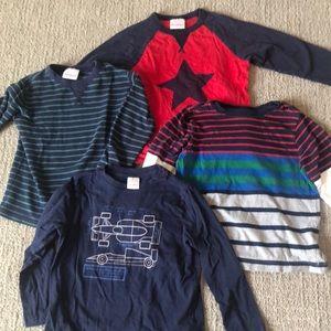 Hanna Andersson Boys 5T long sleeve shirt bundle